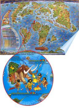 Detská mapa - Prehistorický svet