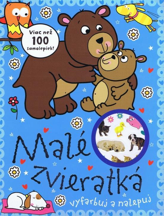 Kniha: Malé zvieratká - viac než 100 nálepiekautor neuvedený