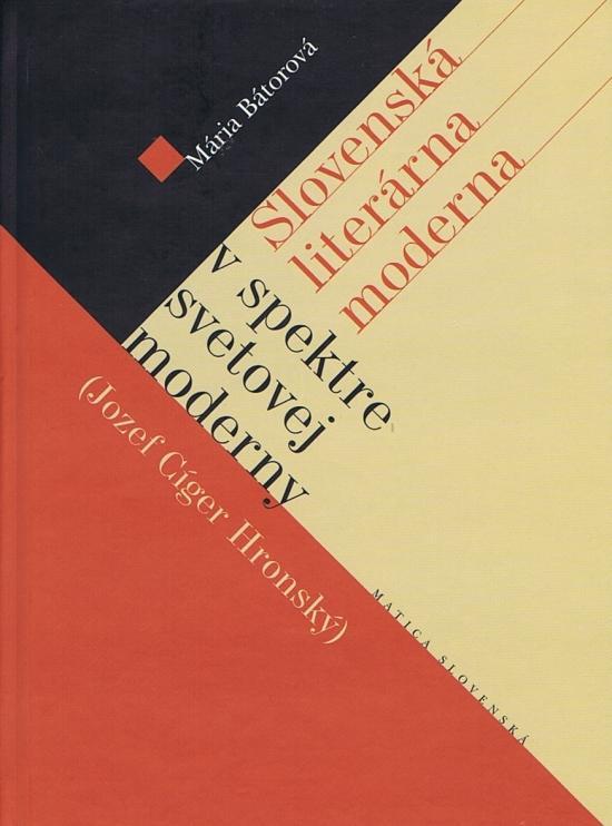 Slovenská literárna moderna v spektre svetovej moderny (J.C.Gronský)