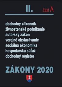 ZÁKONY II časť A 2020