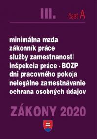 ZÁKONY 2020 III/A - Zákonník práce - úplné znenie k 1.1.2020