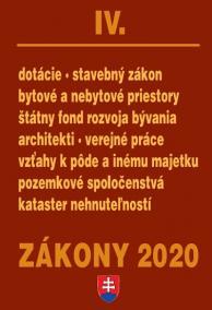 Zákony 2020 IV - Stavebné zákony a predpisy - úplné znenie k 1.1.2020
