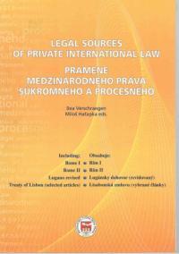 Legal Sources of Private International Law / Pramene medzinárodného práva súkromného a procesného